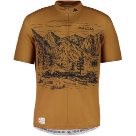 Maloja SerlasM. Shortsleeve Bike Jersey Men walnut